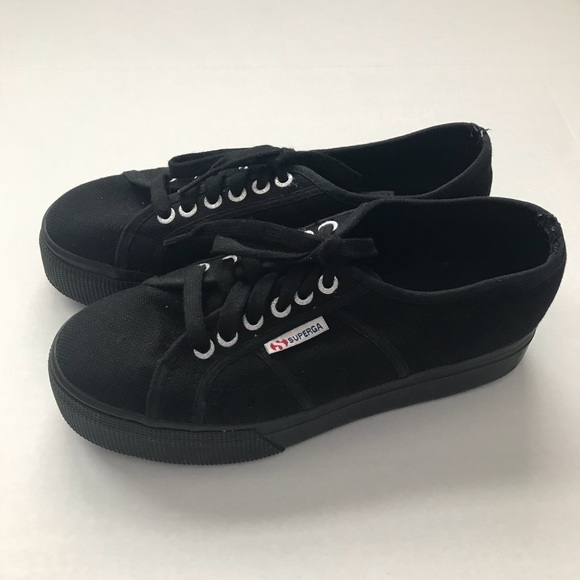 0623353da2a87 Superga All Black Platform Sneakers. M_5a5b97a484b5ce199460a51a